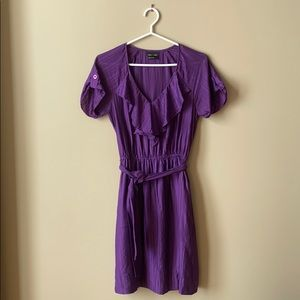 BCBG Max and Cleo Purple V-Neck Dress